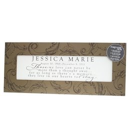 Linescape Chocolate Flourish Personalized Frame