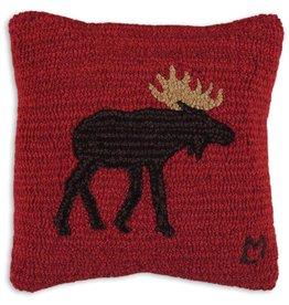 "Brown Moose 14"" Pillow"