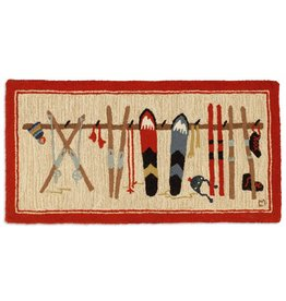 SKI RACK 2'X4' HOOKED HEARTH RUG