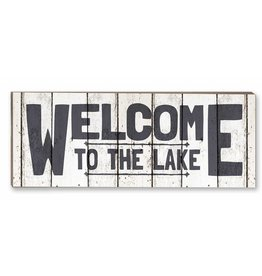 18x7 Weathered Welcome to Lake