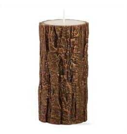 Gilded Tree Bark Pillar Candle (3X6)