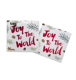 Joy To The World Cocktail Napkin