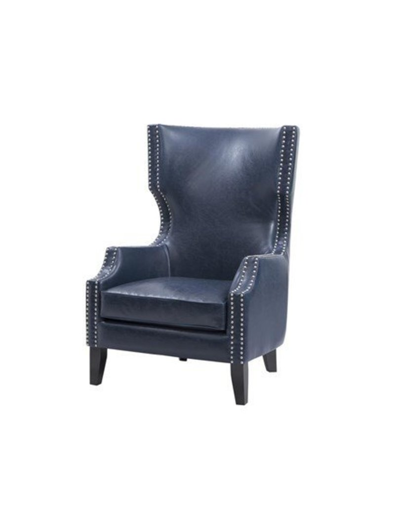 Peachy Brighton Modern Wing Chair Navy Gmtry Best Dining Table And Chair Ideas Images Gmtryco