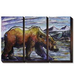 3 Aluminum Panel Grizzly Bear
