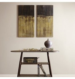 Mudded Abstract Gel Coat Printed Canvas 2 Piece Set