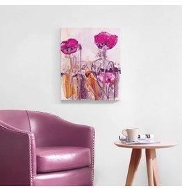 Poppy Garden Hand Embellished Canvas