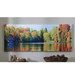 Canvas Autumn Lake Print