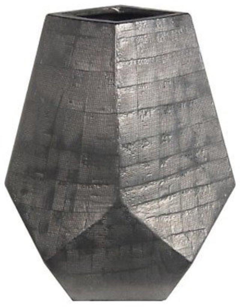 Privilege Silver Geometric Vase--Large
