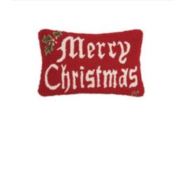 "Merry Christmas II 14""x20"" Hooked Pillow"
