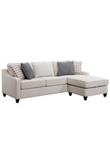 Coaster Montgomery Transitional Cream Sectional