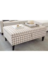 Coaster Transitional Beige and White Ottoman