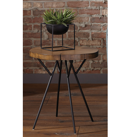 Coaster Rustic Brown Tree Trunk-Inspired Accent Table
