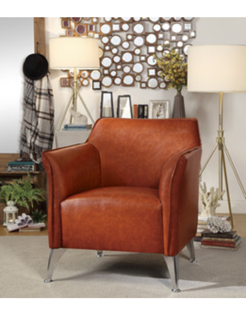Homelegance Basseri  Orange Accent Chair