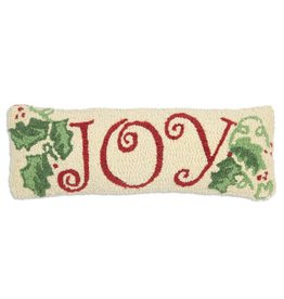 Joy 8x24 Hooked Pillow
