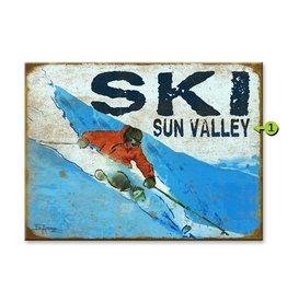 Ed Anderson Ski Sign - 23x31 wood