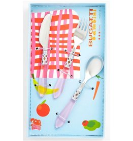 Clear Pink Child Flatware Set-3pc