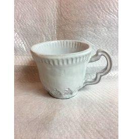 White Baroque Mug Individual