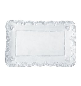 Incanto White Lace Small Rectangular Platter