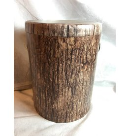 Set of 3, Nested Faux Tree Bark Storage Stumps