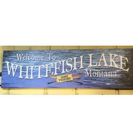 Welcome Gone Fishing -Whitefish Lake (Medium)