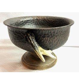6 Inch (Short) Hammered Copper Resin Vase