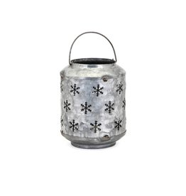 Homestead Christmas Small Metal Snowflake Lantern