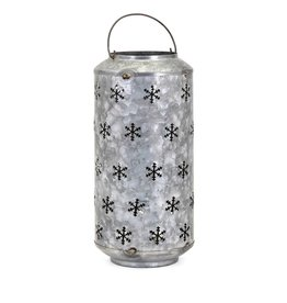 Homestead Christmas Large Metal Snowflake Lantern