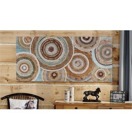 Multi-Color Circles Print Canvas Wall Decor