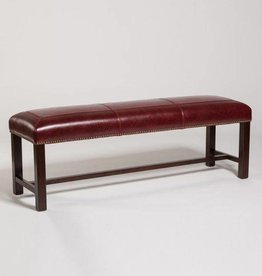 """Cloister 60"""" Bench in Rouge Bordeaux"""