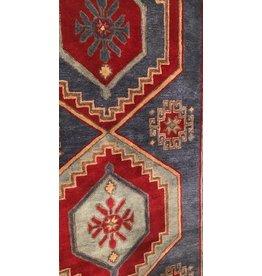 9 x 12 Bijou Blue/Rumba Red Area Rug