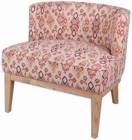 Galen KD Fabric Accent Chair Natural Legs, Sundried Ikat