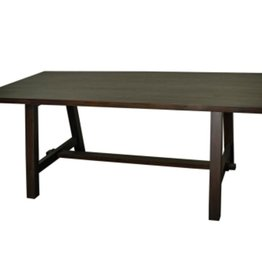"Bedford 79"" Rect. Dining Table ""A"" Base, Cocoa Glaze"
