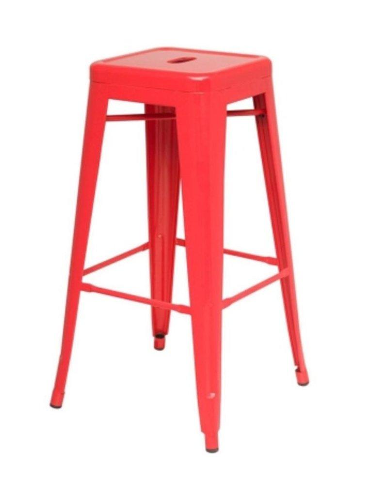 Wondrous Metropolis Metal Backless Counter Stool Red Creativecarmelina Interior Chair Design Creativecarmelinacom