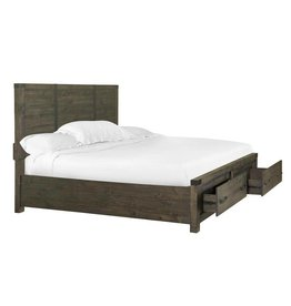 Abington Complete King Panel Bed with Storage Footboard