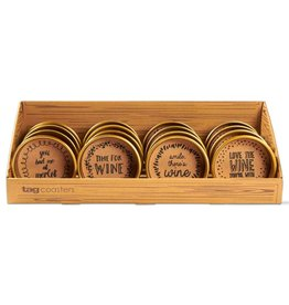 Wine Bottle Coaster, 4 Assorted--choice of one