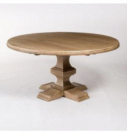 """Summerton 60"""" Round Dining Table in Weathered Beechwood"""