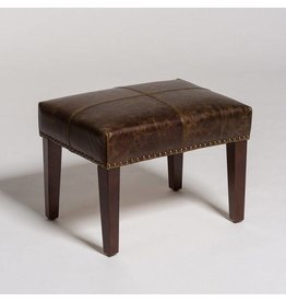 Sutton Footstool in Dark Walnut