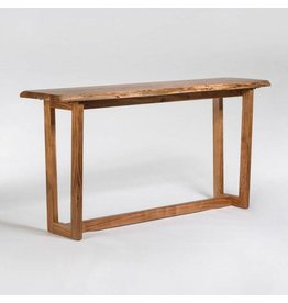 Aspen Live Edge Console Table in Natural Finish