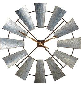 GalvanizedWindmillWallClock