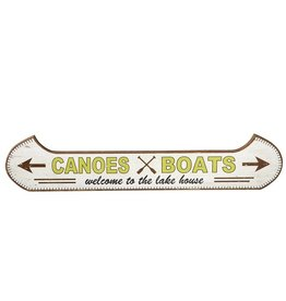 """Welcome to the Lake House"" Canoe Wall Decor"