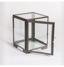 Berkeley End Table in Burnished Riviera and Glass