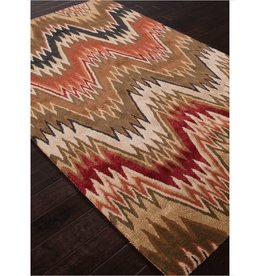 5x8 Cascade Static Brown Rectangle-Hand Tufted