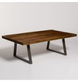 Brooklyn  Coffee Table in Chestnut & Burnished Riviera