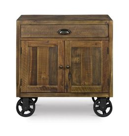 Nightstand With Wheels