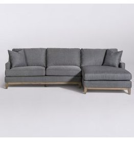 Grant Sectional - Left Arm Facing in Checkered Slate and Driftwood