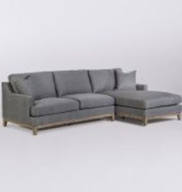 Grant Sectional - Right Arm Facing in Checkered Slate and Driftwood