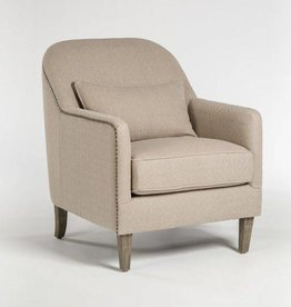Harvard Occasional Chair in Pebble Maze and Distressed Beechwood