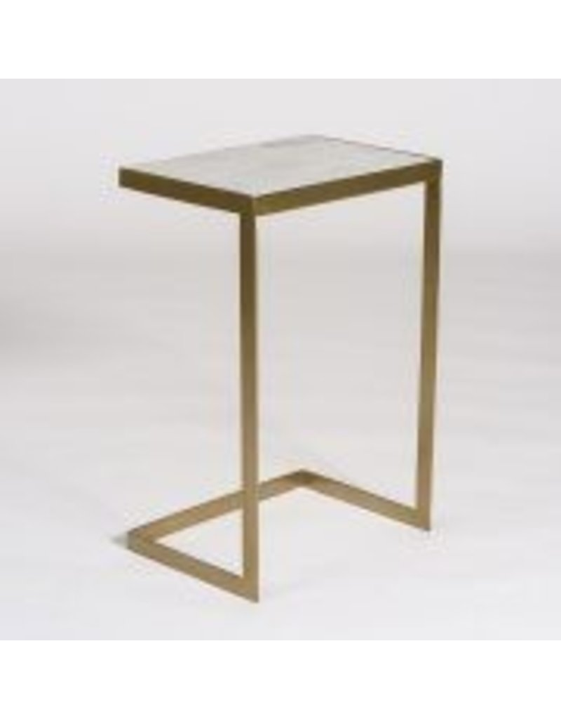 Laguna Accent Table In Siena Marble And Antique Br