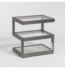 Main Street Accent Table in Burnished Riviera and Glass