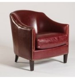 Madison Occasional Chair in Rouge Bordeaux and Dark Walnut